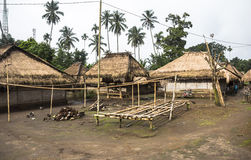 Traditional village on the island of Lombok Stock Image