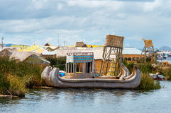 Traditional village  on lake Titicaca in Peru, South America Stock Images
