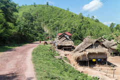Traditional village in Laos Stock Photo
