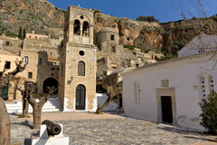 Traditional village of Monemvasia in Greece Stock Photo