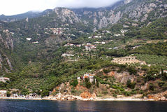 Traditional village on mount Athos Stock Image