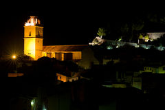 Traditional village at night Royalty Free Stock Photos