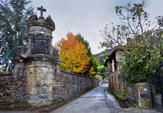 Traditional village in northern Spain. Stock Photos
