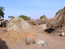 Traditional village in the Nuba mountains, Africa Stock Image