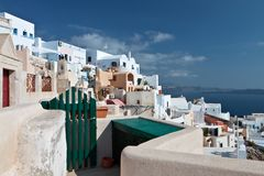 Traditional village of Oia at Santorini Stock Photos