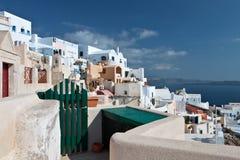 Traditional village of Oia at Santorini Stock Photos