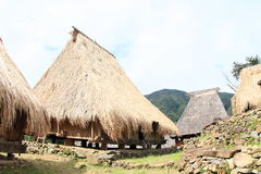 Traditional village in open-air museum in Wologai Royalty Free Stock Photography