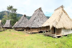 Traditional village in open-air museum in Wologai Royalty Free Stock Images