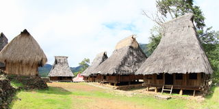 Traditional village in open-air museum in Wologai Stock Photos