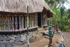 Traditional village in Papua indonesia stock images