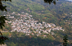 Traditional village at Pelion in Greece Royalty Free Stock Photography