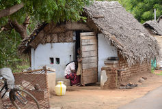 TRADITIONAL VILLAGE POOR HOUSES Stock Photography