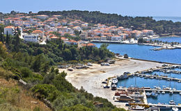 Traditional village of Pylos, at Greece Royalty Free Stock Photos