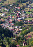 Traditional village from Romania. Traditional village from the Carpathian Mountains in  Romania Royalty Free Stock Photo