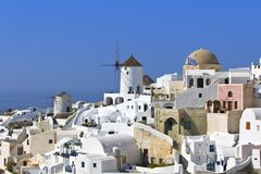 Traditional village at Santorini, Greece Stock Photo