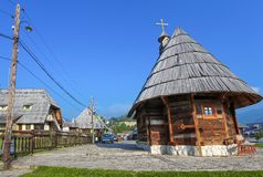 Traditional village in Serbia Royalty Free Stock Images