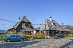 Traditional village in Serbia Stock Photography