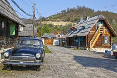 Traditional village in Serbia Royalty Free Stock Image