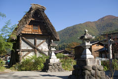 Traditional village, Shirakawa-go, Japan Stock Photo