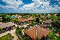 A traditional village in a small island of Taketomi Royalty Free Stock Image