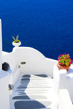 Traditional village of Thira Stock Photos