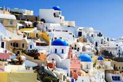 Traditional village of Thira at Santorini Royalty Free Stock Photo