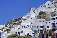 Traditional village of Thira at Santorini Royalty Free Stock Photo