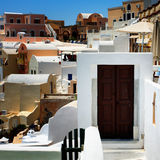 Traditional village of Thira at Santorini Royalty Free Stock Images