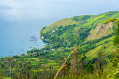 Traditional village at toba lake Royalty Free Stock Photo