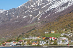 Traditional village view from cruise. Stock Image