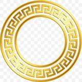Traditional Vintage Gold Greek Ornament, Meander