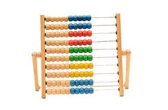 Traditional Vintage style Abacus On white background.  royalty free stock photography