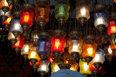 Traditional Vintage Turkish Lamp. Close up of Traditional Vintage Turkish Lamp Stock Photos