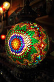 Traditional vintage Turkish lamps. Over light background in the night Royalty Free Stock Photos