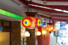 Traditional vintage Turkish lamps. Over light background Stock Image