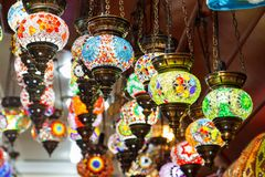 Traditional vintage Turkish lamps Royalty Free Stock Image