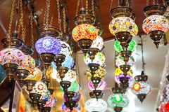 Traditional vintage Turkish lamps Royalty Free Stock Photo