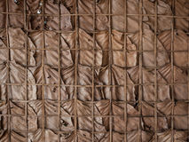 Traditional wall made of dry leaves Stock Photography