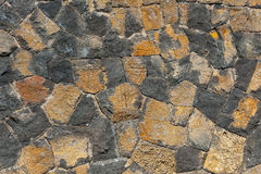 Traditional wall of volcanic stones at Jeju Royalty Free Stock Photos