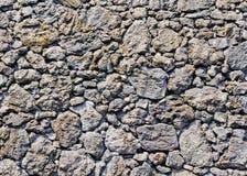 Traditional wall of volcanic stones at Jeju island. Korea royalty free stock photos