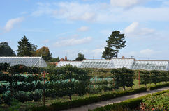Traditional walled garden Stock Photo
