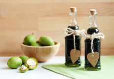 Traditional walnut brandy made from green unripe nuts. Stock Photography