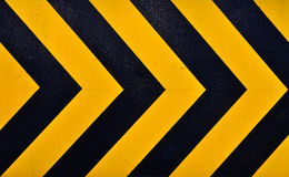 Traditional Warning black and yellow Stock Image