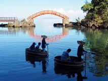 Traditional Washbin Boats Taraibune royalty free stock photo