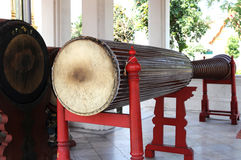 Traditional wat drum. Chiang Mai Thailand stock photography