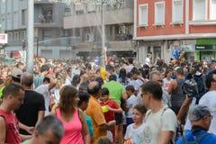Traditional Water Festival in Villagarcia de Arousa Royalty Free Stock Photo