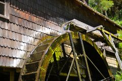 Traditional water mill of German immigrants in Royalty Free Stock Photography