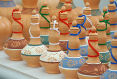 Traditional water storage containers a.k.a. Labu Sayong in Malay made from clay Royalty Free Stock Photography