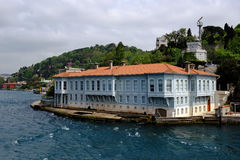 Traditional waterfront houses on the Bosphorus Royalty Free Stock Photos