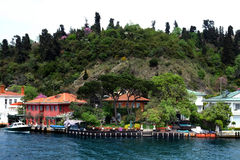Traditional waterfront houses on the Bosphorus Stock Photography